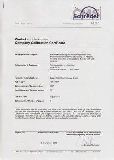 sglux Certificado Calibración Schreder