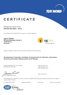 sglux DIN ISO 9001 2015