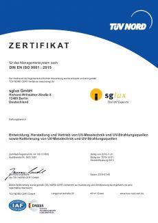 sglux DIN ISO 9001 2015-deutsch