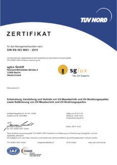 sglux DIN ISO 9001 2015-deutsch_2019